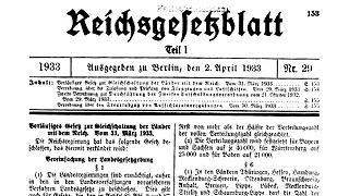 Bundesrat - Textarchiv - Vor 80 Jahren erfolgte die