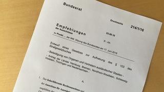 Foto: Gesetzesantrag Bundesrat Drucksache 214/16
