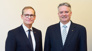 Michael Müller und Mathias Cormann