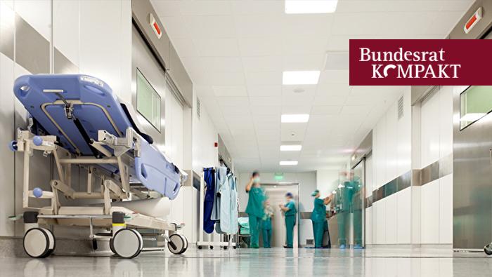 Foto: Gang eines Krankenhauses